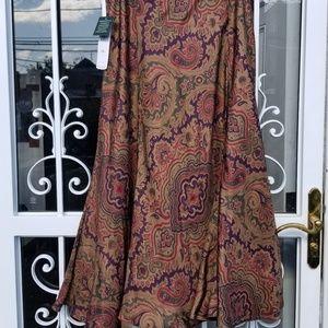 NWT Lauren Ralph Lauren Silk Skirt
